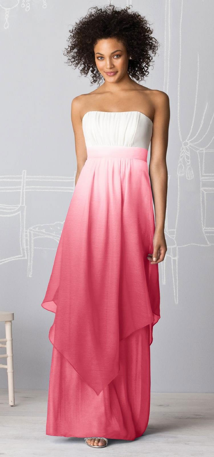 Ombre wedding attire. Great Bridesmaid\'s dress. | Ombre: fashion ...
