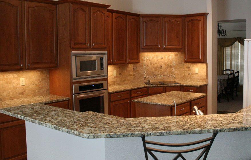 Giallo Napoleon, granite, kitchen countertops, island, bullnose ...