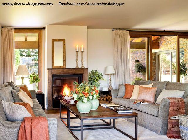 living salas con chimeneas diseo y decoracin del hogar design and decoration - Chimeneas Diseo