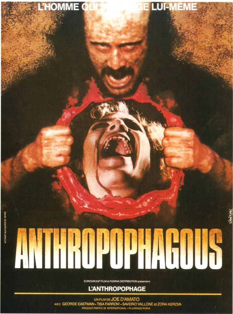 Anthropophagus The Grim Reaper Horror movie posters