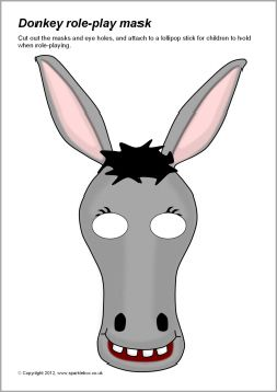 Good for saul 39 s lost donkeys story donkey role play masks for Donkey face mask template