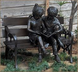 The Large Art Company Bronze Sculptures Statues Children