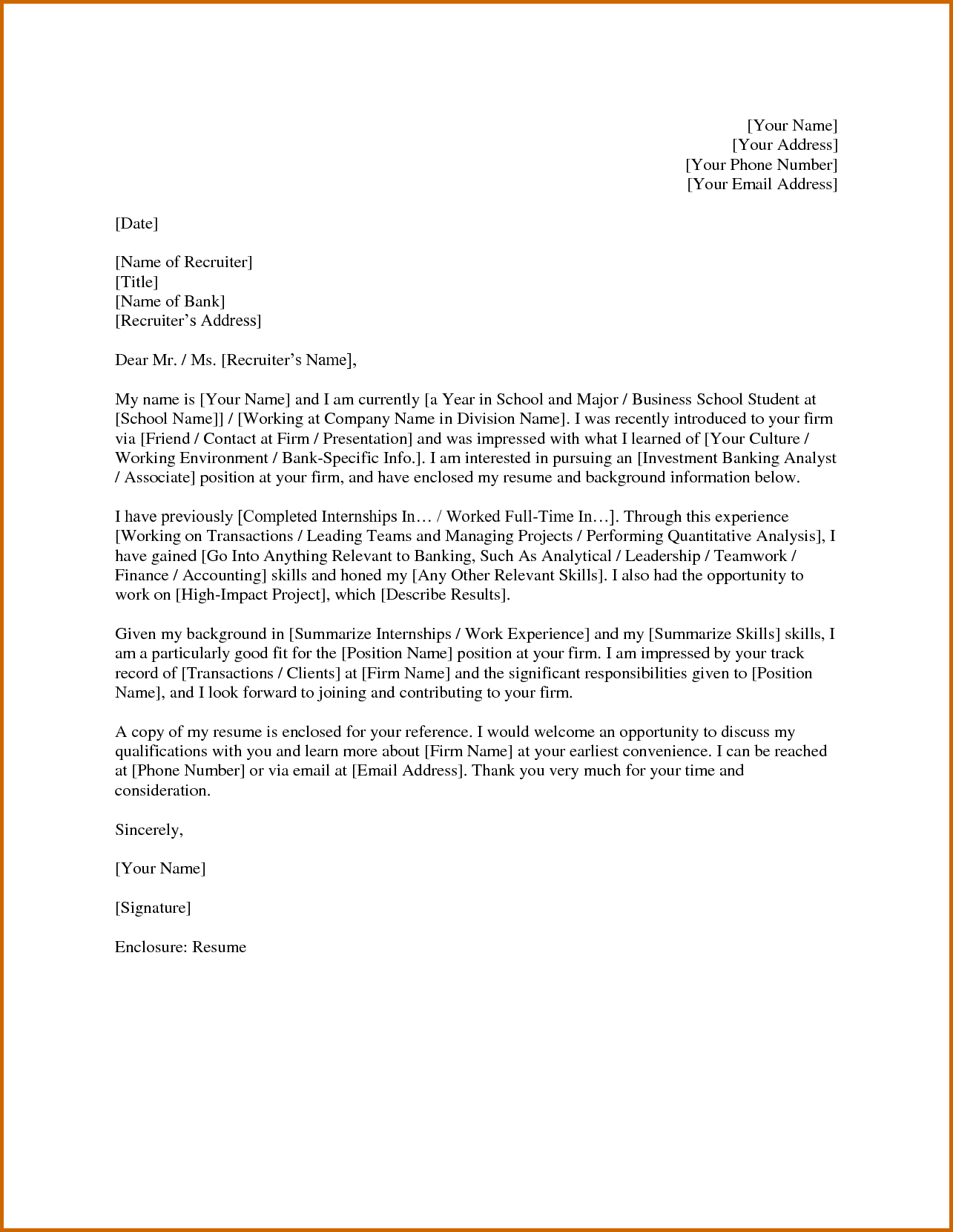 cover letter template investment banking 1 cover letter template