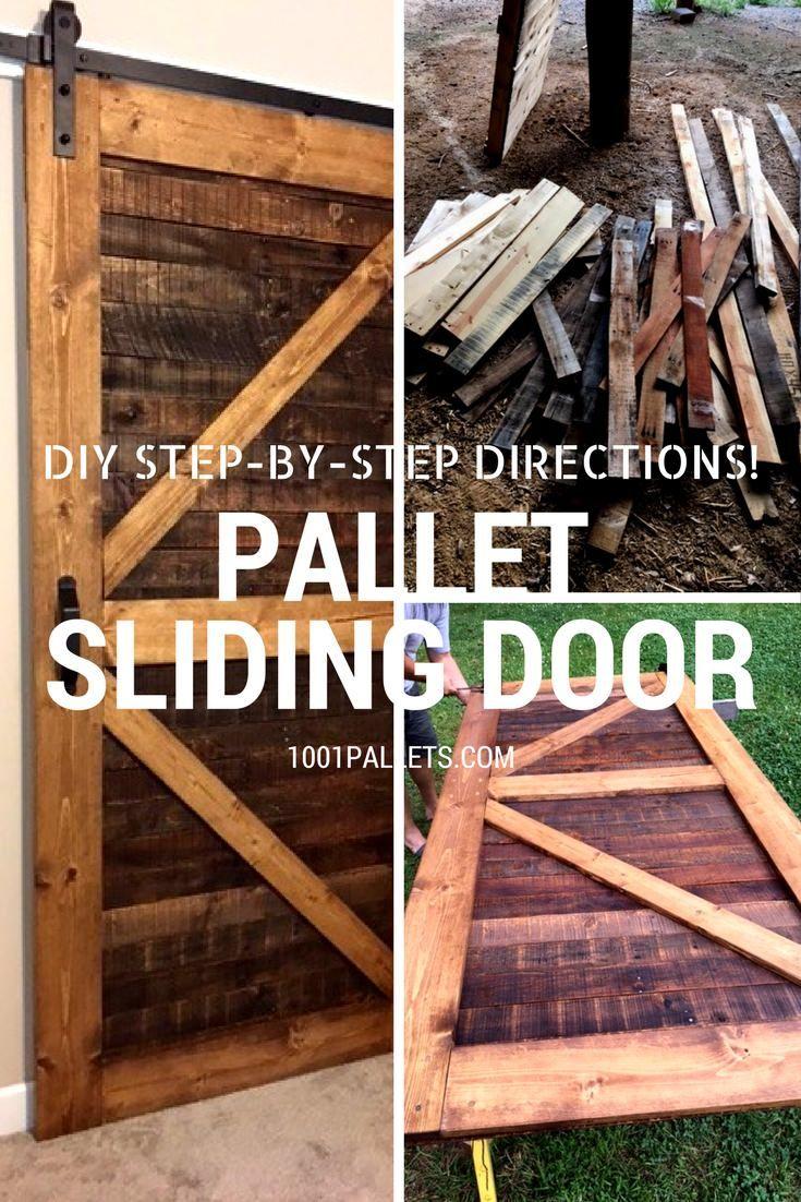 Stylish Rustic Sliding Pallet Interior Door Home Pinterest