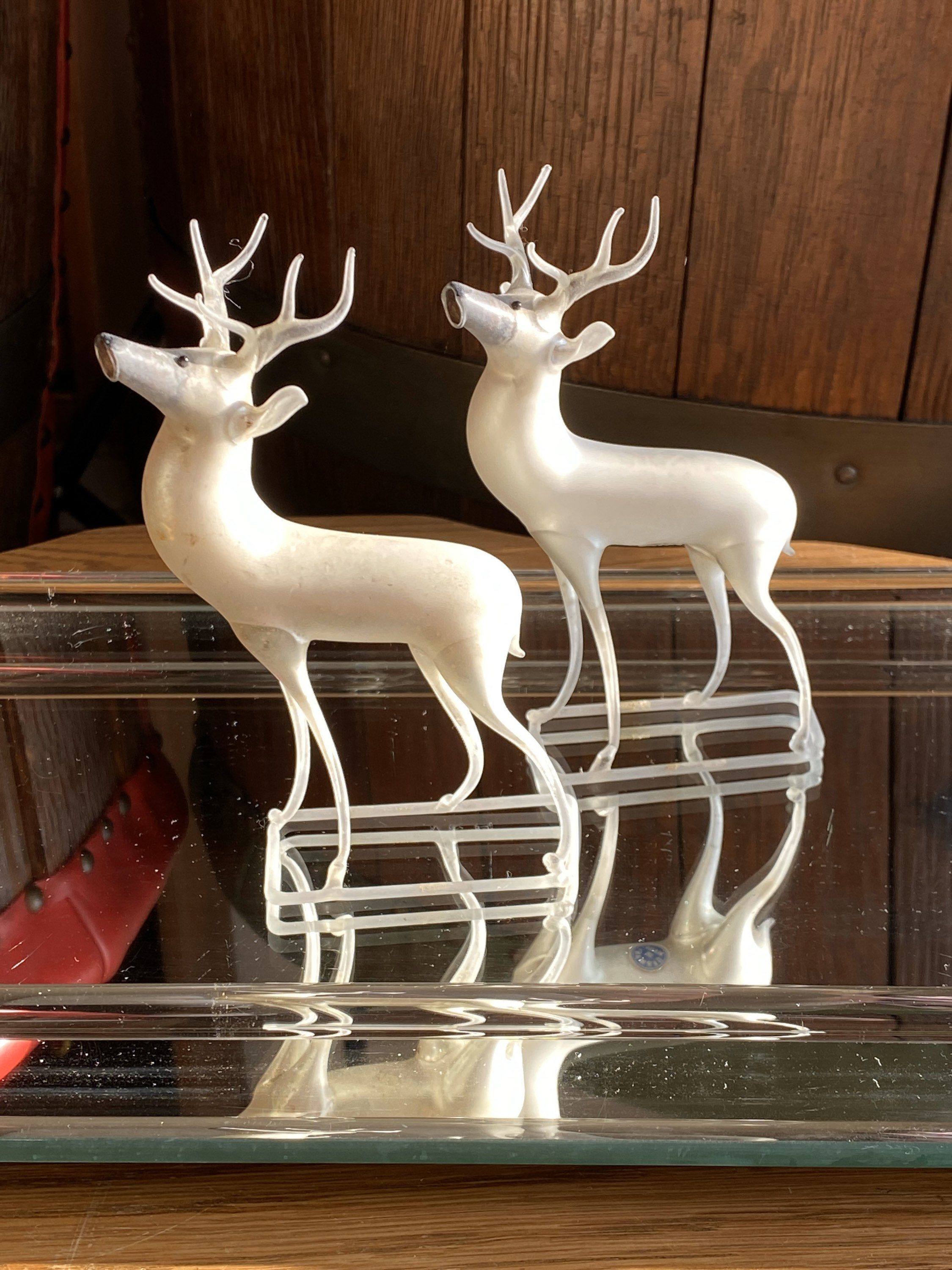Excited To Share This Item From My Etsy Shop Vintage German Blown Glass Deco Style Deer Mercury Glass R In 2020 Vintage Christmas Glass Blowing Christmas Ornaments