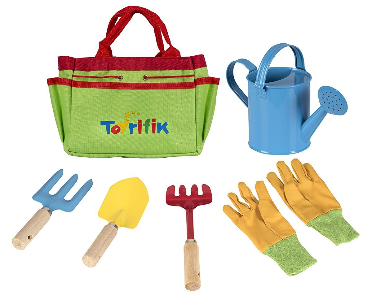 Little Gardener Tool Set With Garden Tools Bag For Kids Gardening