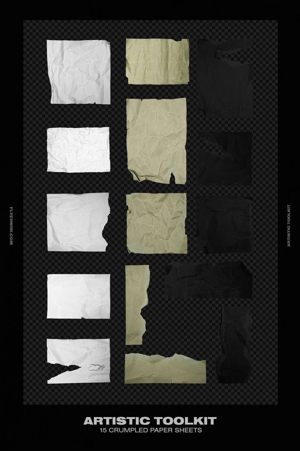 Artistic Toolkit Black Paper Texture Crumpled Paper Black Paper Background