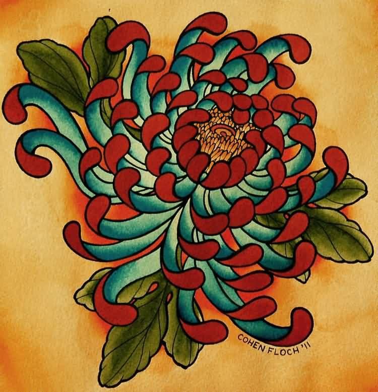 7b38f0eb1afc0 20 Awesome Chrysanthemum Tattoo Designs   hodgepodge   Chrysanthemum ...