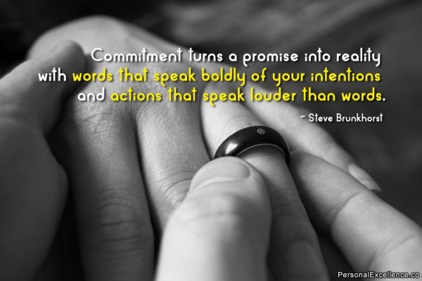 words of commitment and love