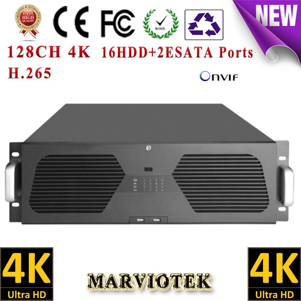 128CH 8MP 4K CCTV NVR record IP Camera 16 HDD Ports surveillance NVR HDMI VGA output Support Onvif/P2P Goolink