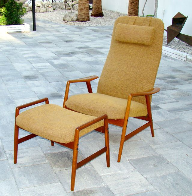 Incredible Vintage Dux Folke Ohlsson Danish Modern Mid Century Teak Pabps2019 Chair Design Images Pabps2019Com