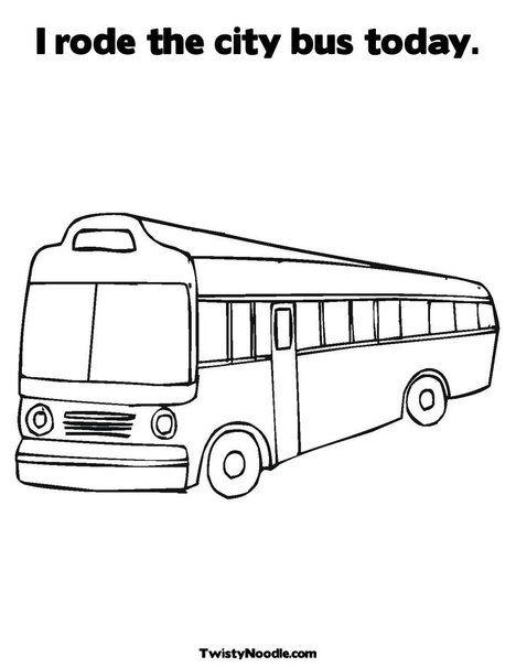 City Bus Coloring Page Coloring Pages Teaching Activities Preschool School Scrapbook