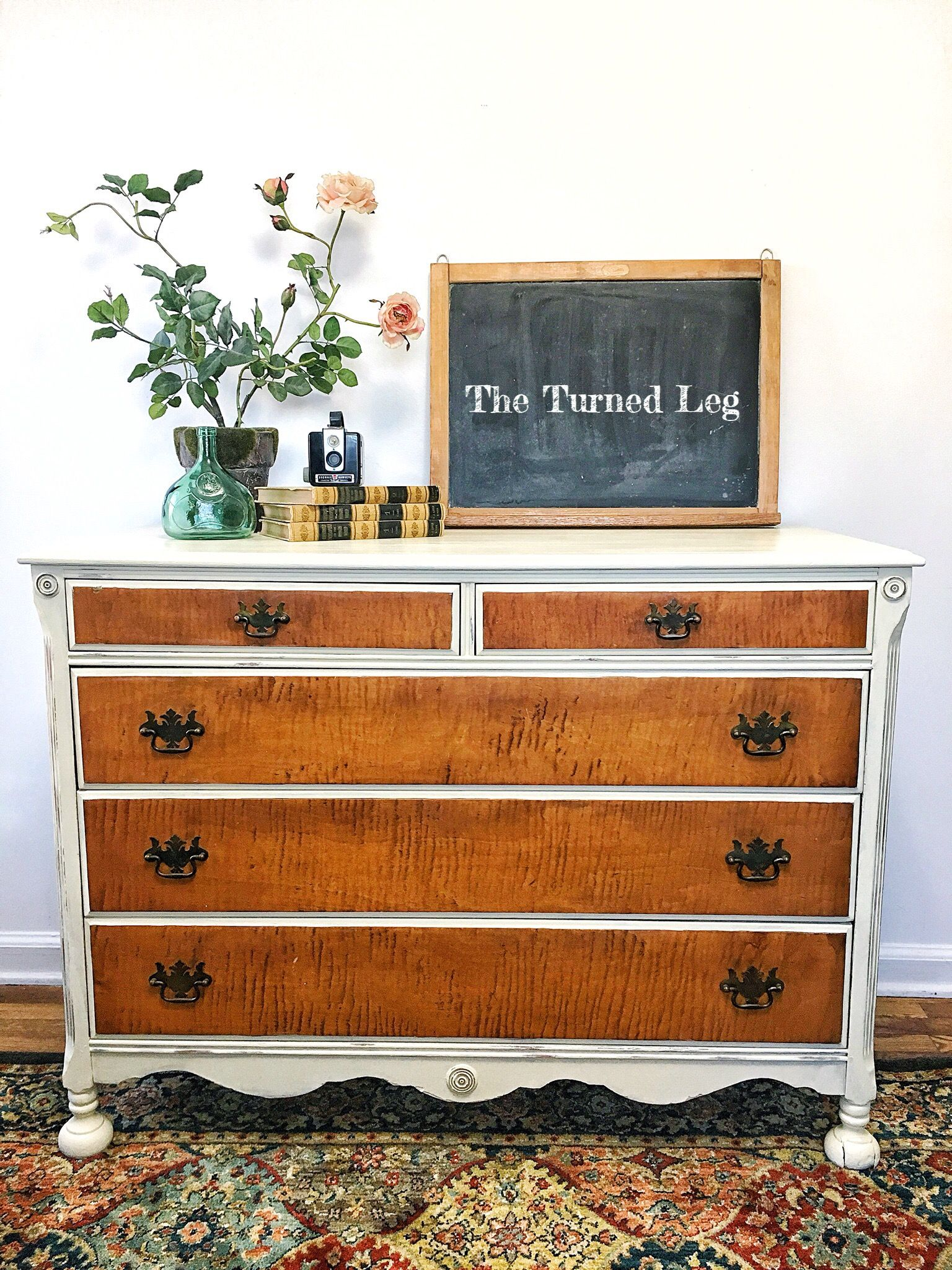Crinoline Burled Wood Dresser 159 95 The Turned Leg The Turned Leg The Turned Leg Sells Hand Pa Repurposed Furniture Furniture Painting Wooden Furniture