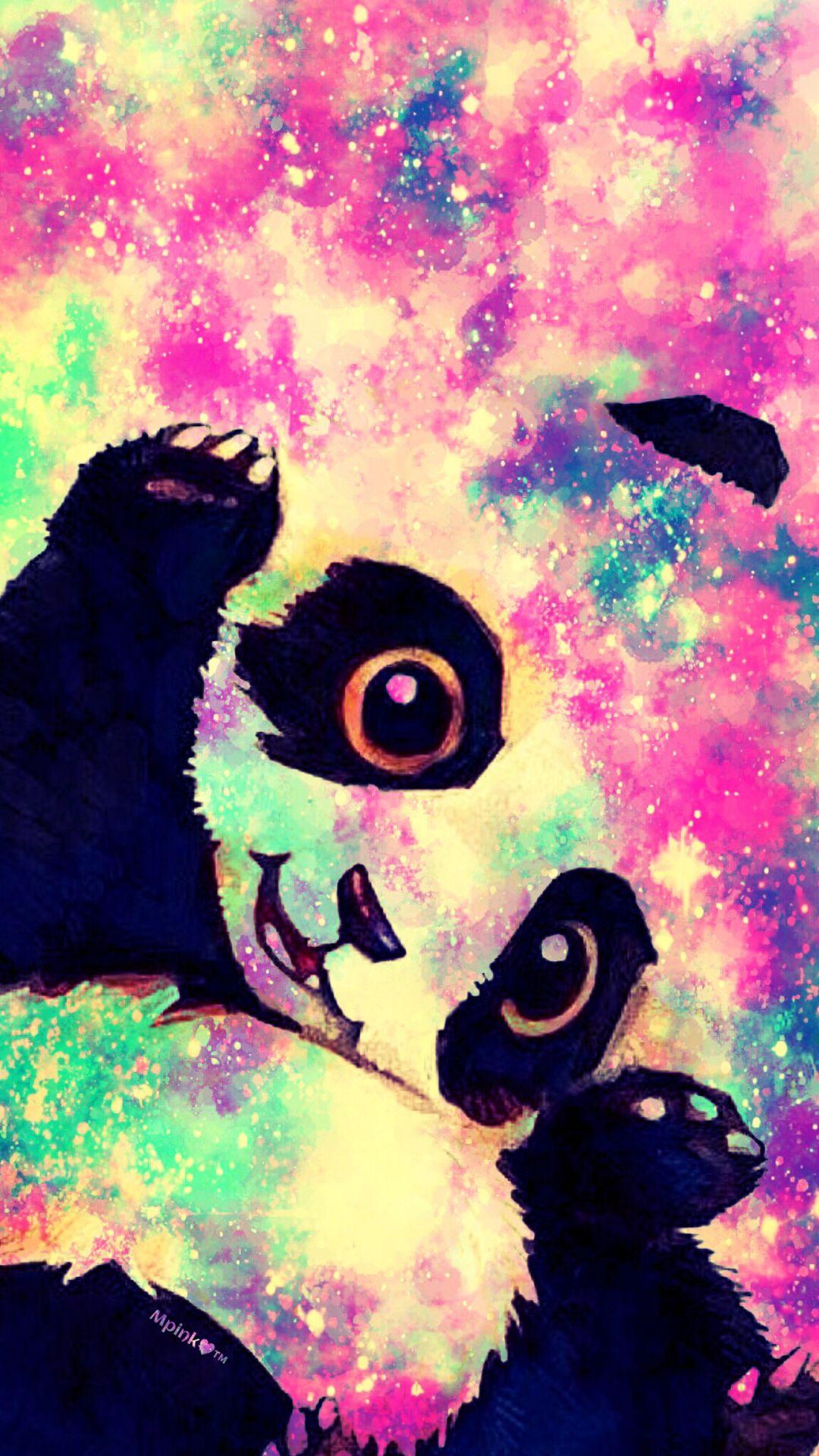 Wallpapers Fofo Cutes Cute Panda Galaxy Wallpaper Androidwallpaper