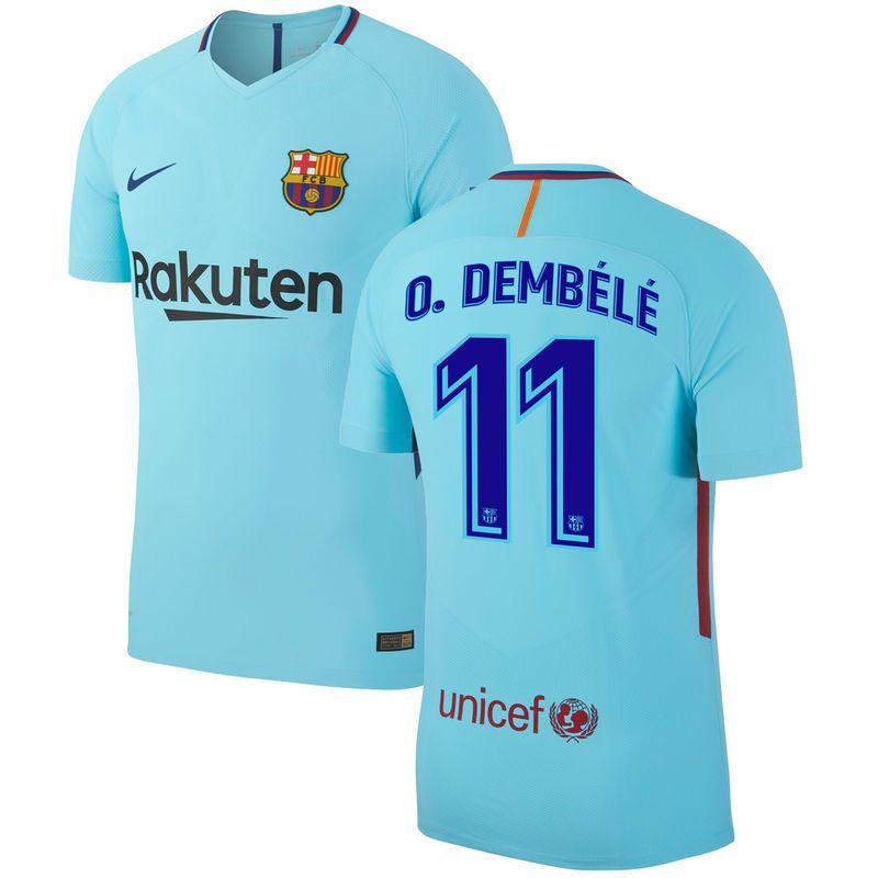 87724c754 Ousmane Dembele Barcelona Nike 2017/18 Vapor Match Away Authentic Player  Jersey - Blue