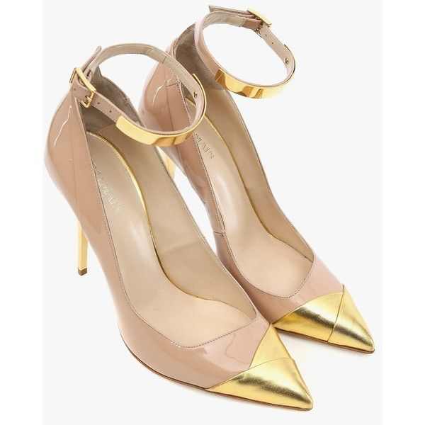 1f2e5385110c Balmain Lilea patent-leather pumps (£695) ❤ liked on Polyvore featuring  shoes