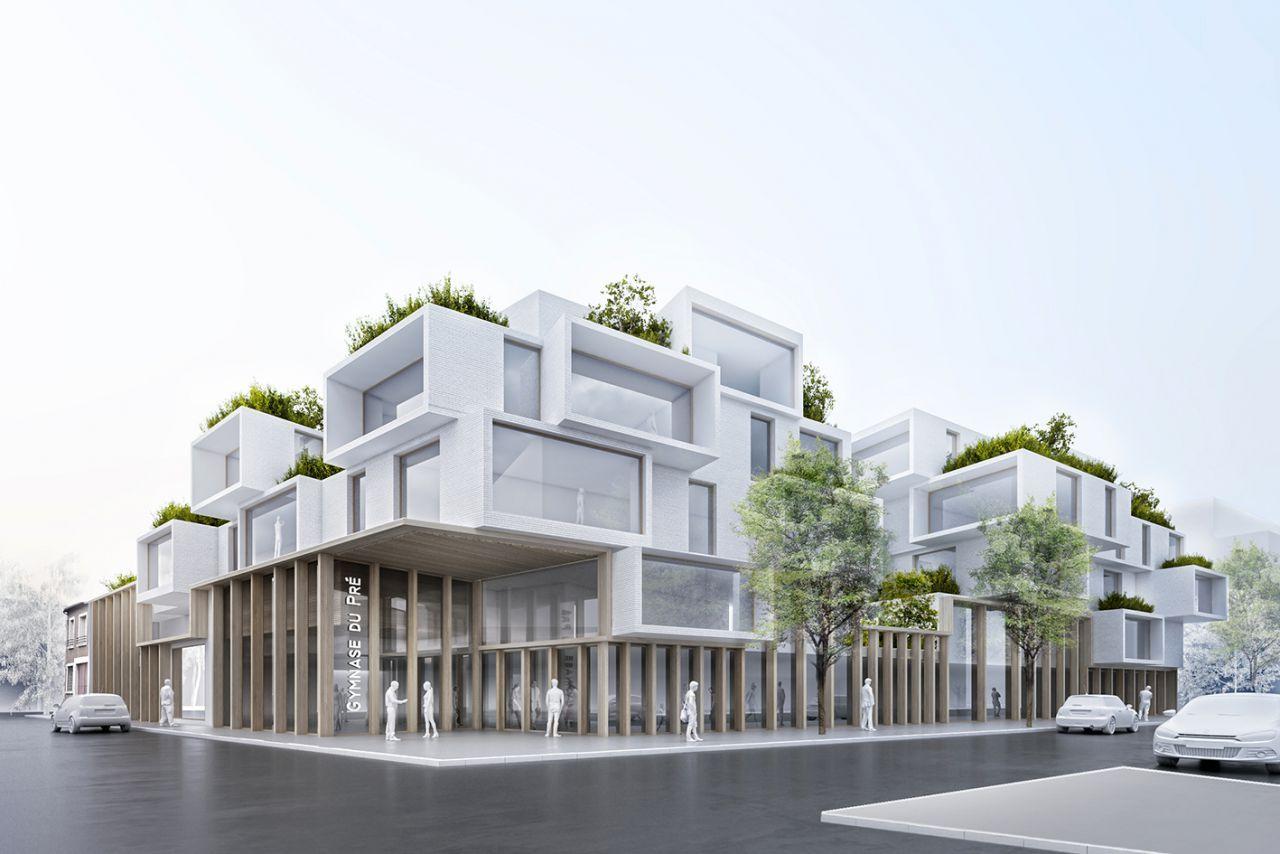 Küchenbar design-viertel kapla logements u gymnase presaintgervais  arch  pinterest