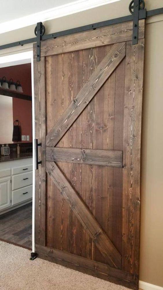 Rustic Brown Barn Door