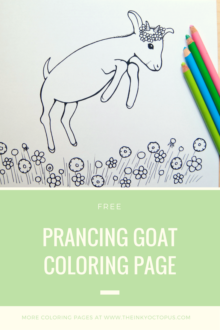 Prancing Goat Coloring Page Dont You Just Love How Much Happiness Goats