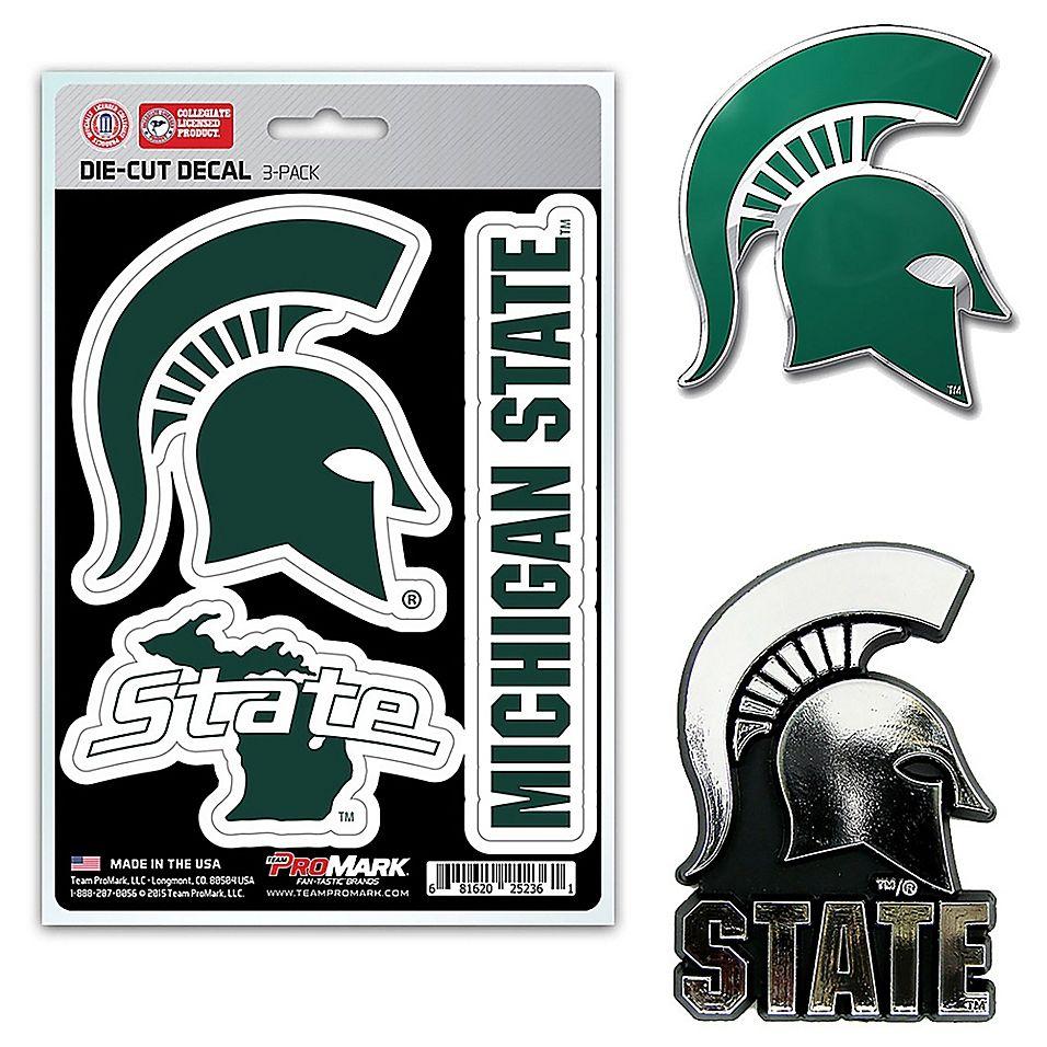 Michigan State University Car Emblem Kit Multi Team Decal Car Emblem Team Emblems [ 956 x 956 Pixel ]