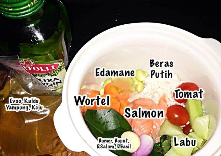 Resep Mpasi Salmon Slow Cooker Oleh Mama Darren Yunita Resep Resep Makanan Bayi Makanan Pendamping Makanan Bayi
