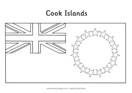 Cook Islands Flag Colouring Page Cook Islands Flag Coloring Pages