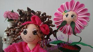 Zildcast Artesanatos: Boneca Porta Papel Higiênico - Afro com mechas