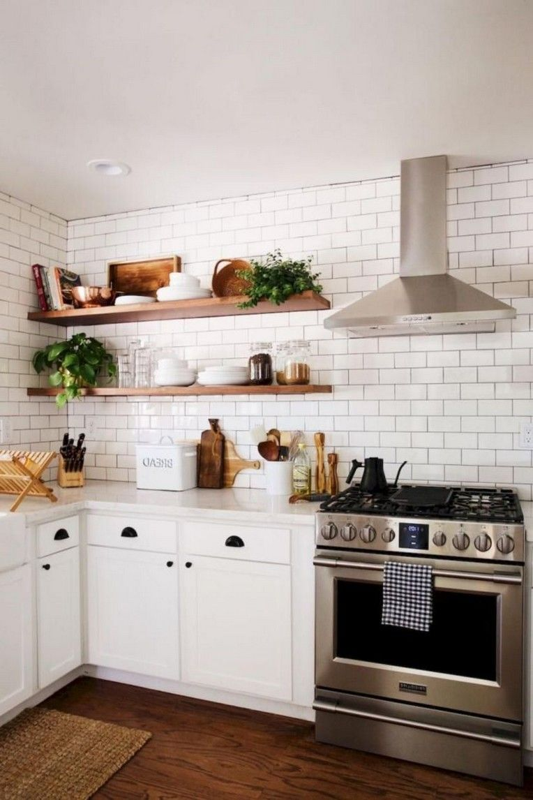 30+ Modern Rustic Kitchen Decor Open Shelves Ideas