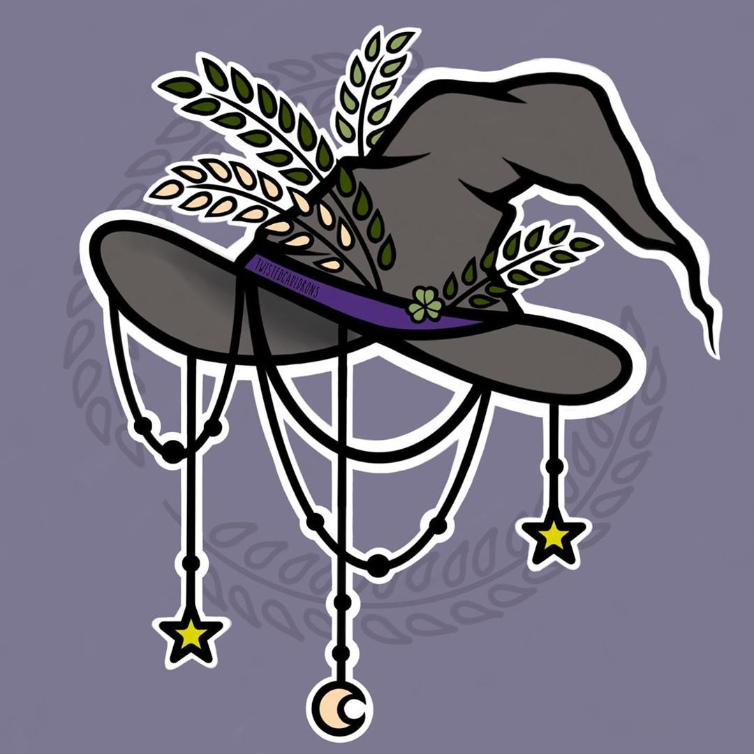 Twisted Cauldrons On Instagram Witches Hat Digitalart Witchesofinstagram Witchartist Witcheshat Witches Hat Drawing Halloween Art Pretty Drawings