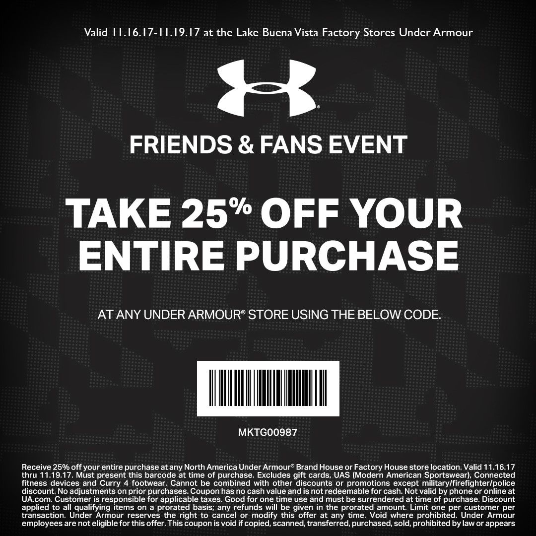 under armour outlet coupon codes