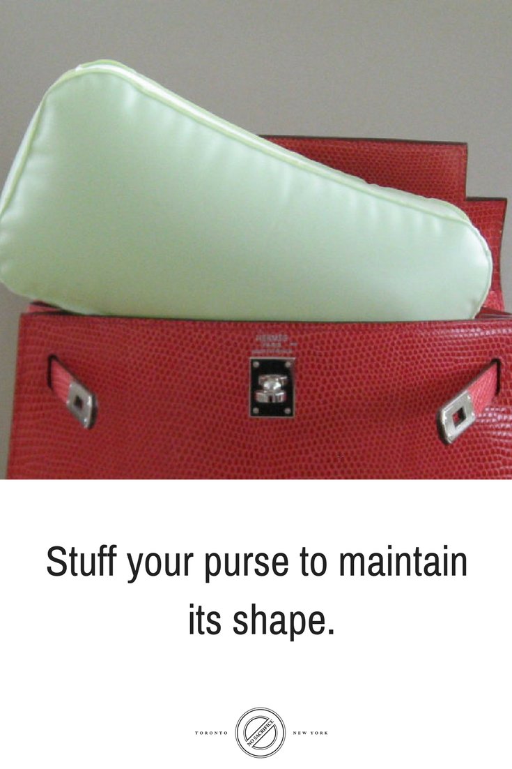 Maintain the shape of your purse by stuffing it with No Sacrifice® bags SOS  Save Our Shape® Inflatable Purse shaper. 1f9be21cd71cc