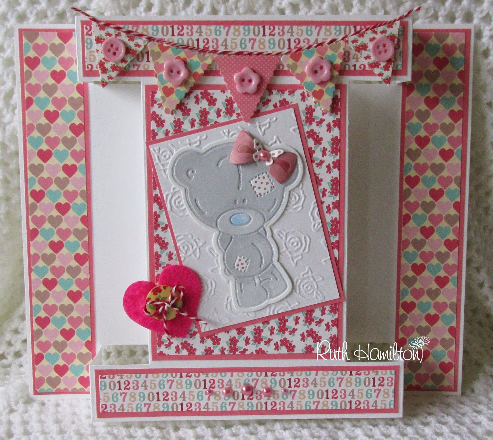 A Passion For Cards: Tiny Tatty Teddy Girl card template and instructions