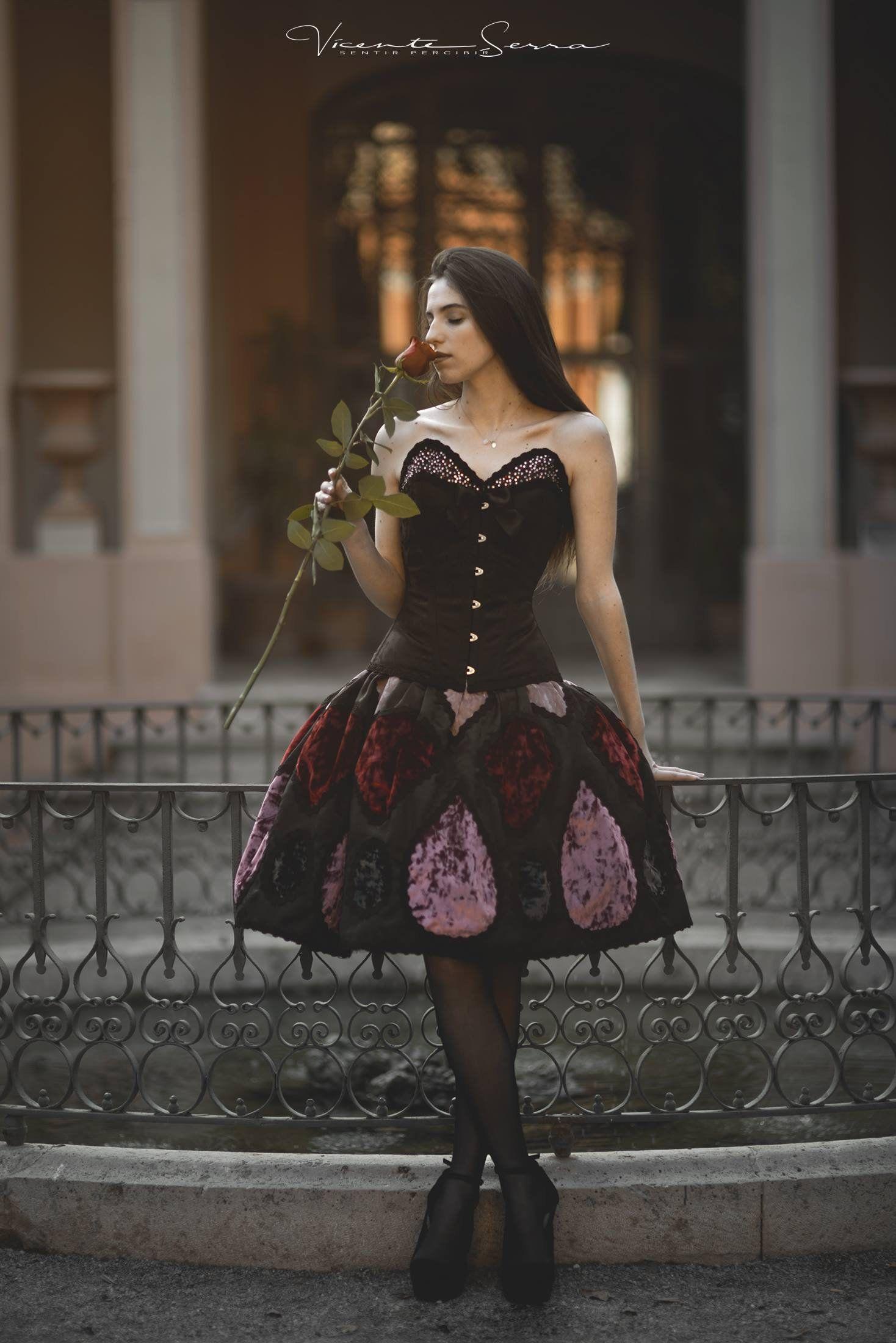 Haute couture gothic fantasy dress fairy princess wedding dress