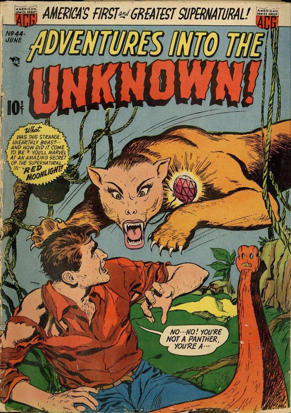 Adventures into the unknown 44 comic book plus comic