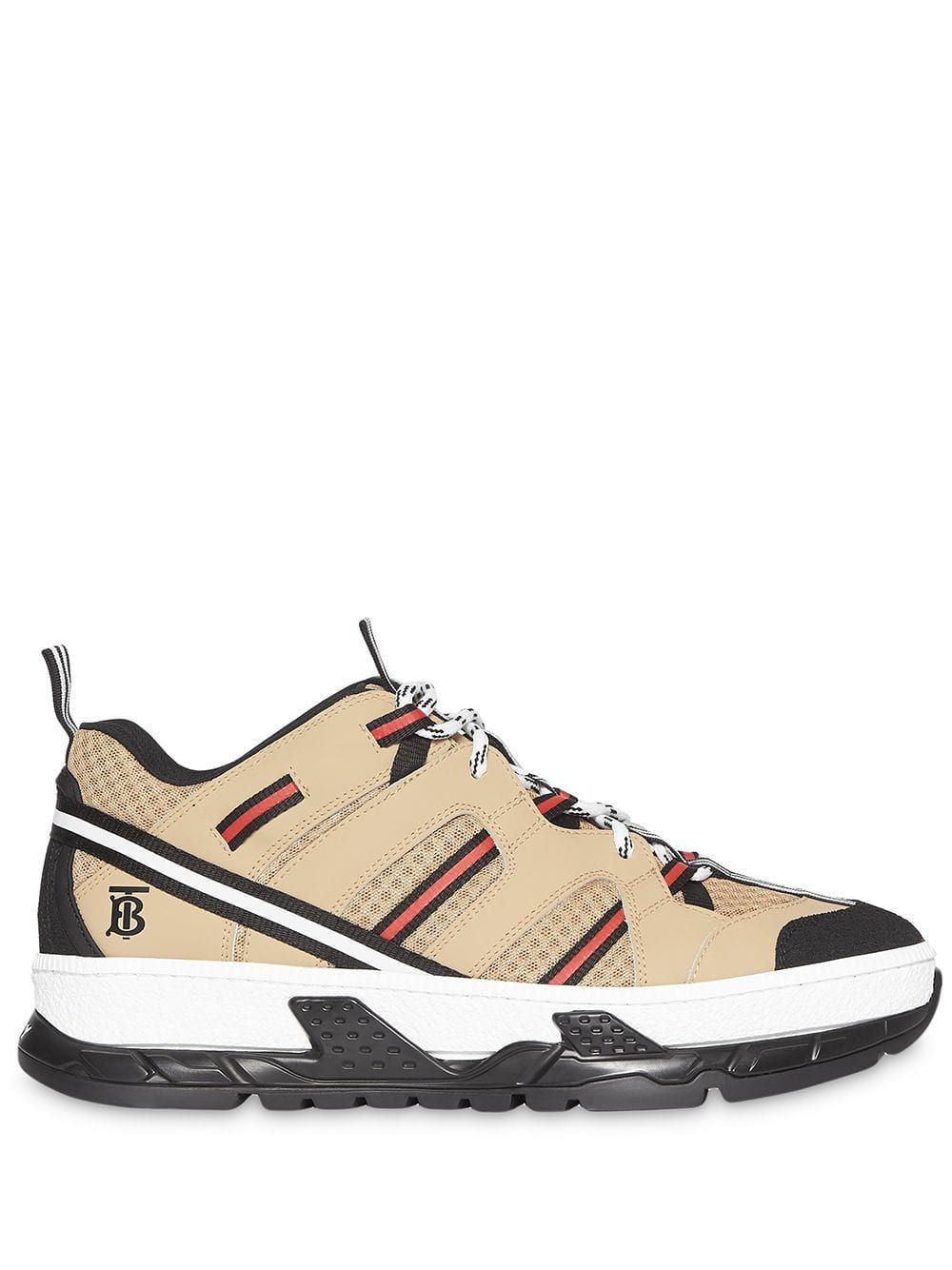 20932bdd948ce Burberry Monogram Motif Mesh and Leather Sneakers - Neutrals in 2019 ...