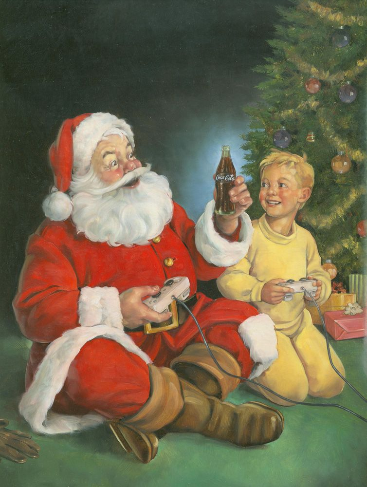 Here S A Nice Example Of Illustrative Art By Dan Andreasen Please Like Pin Or Comment Thanks Visit Http J Gs 100549 D Kerstman Kerst Foto S Kerst Kaarten