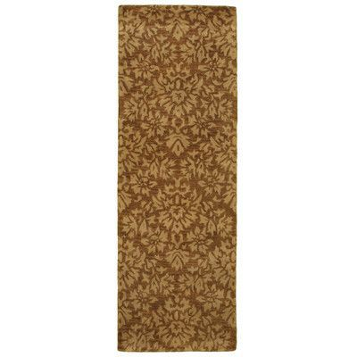 LR Resources Majestic Brown Bold Floral Rug Rug Size: