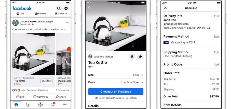 Facebook Tests New In App Shopping Ads For Both Facebook And