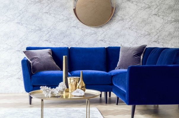Holly Corner Sofa With Images Small Corner Sofa Corner Sofa Blue Corner Sofas