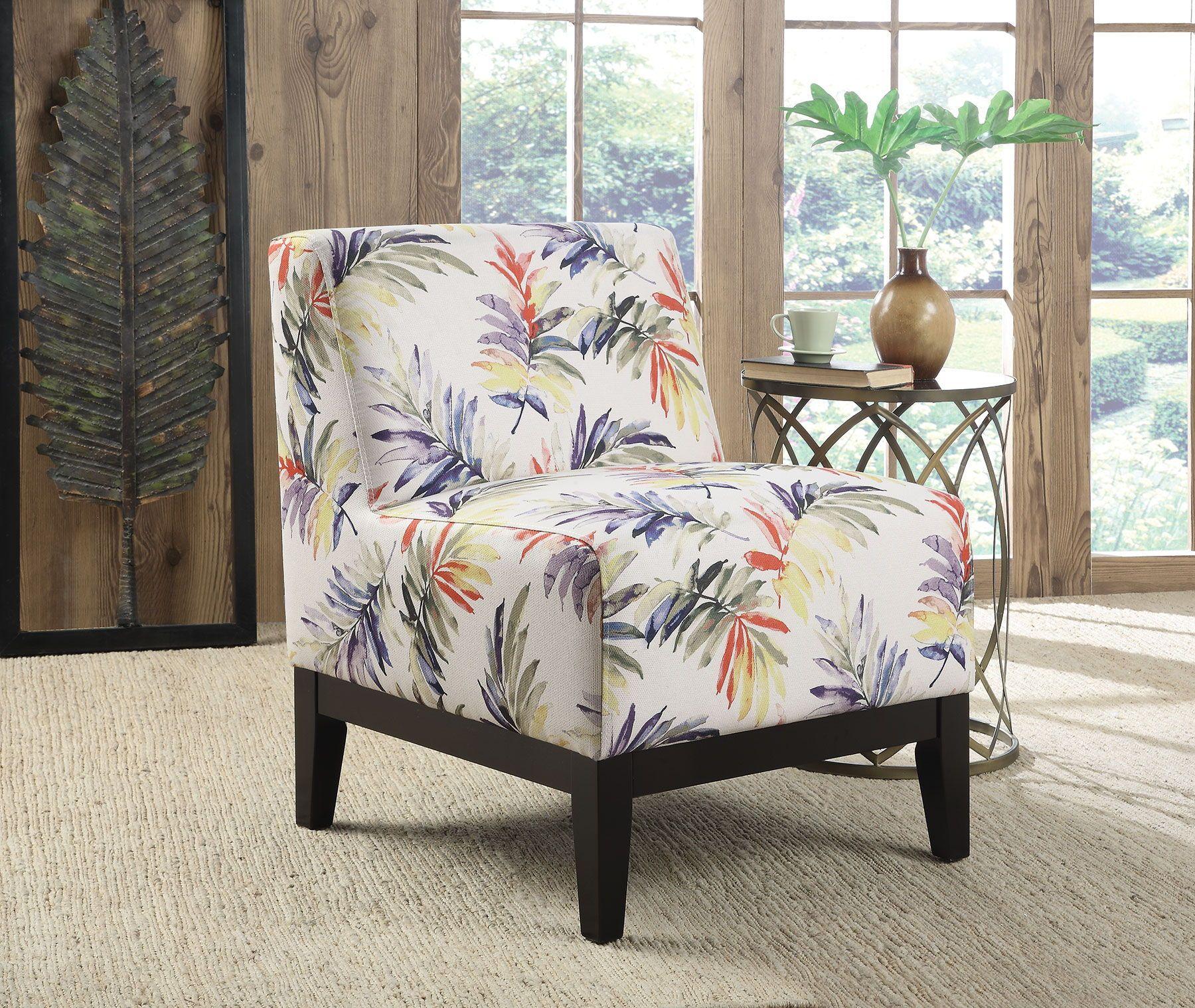 Purple Green Fabric Wood Cushion Accent Chair Furniture