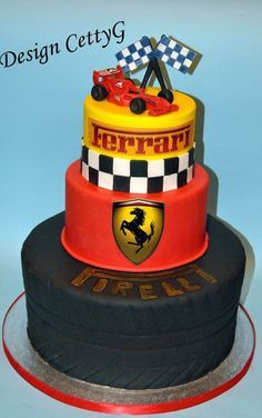 Kid Ferrari Cake Google Search With Images Ferrari Cake