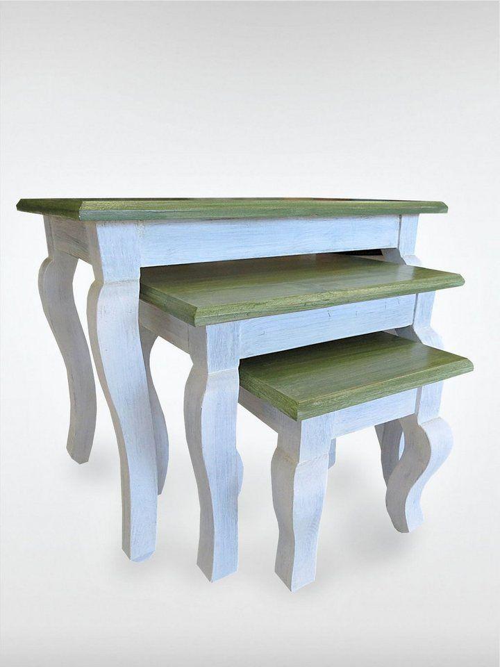 roombird Hochwertiger Beistelltisch. Von roombird »Beistelltische Green Kay 3er Set« für 239,00€. gefertigt in Handarbeit, Vielseitig kombinierbar bei OTTO
