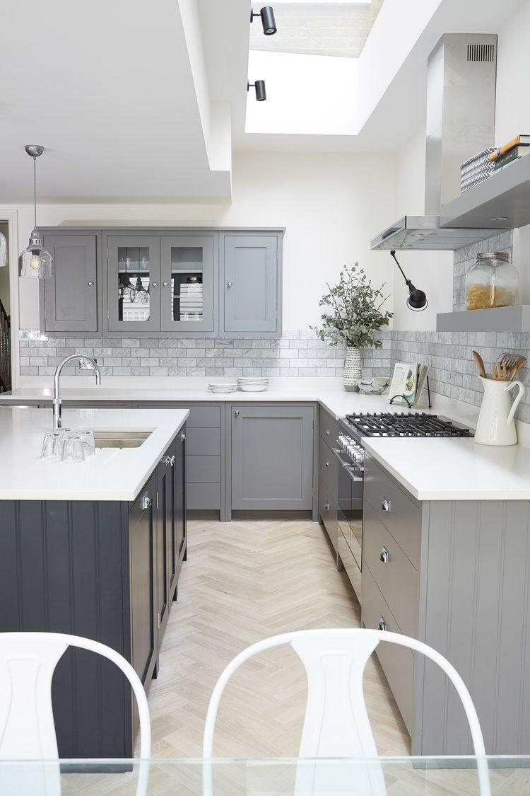 love kitchen colors light floor grey cupboards and dark grey island maybe wood island top on kitchen interior grey wood id=11948