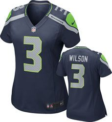 ad3bccd46 Russell Wilson Women's Jersey: Home Navy Game Replica #3 Nike Seattle Seahawks  Jersey http