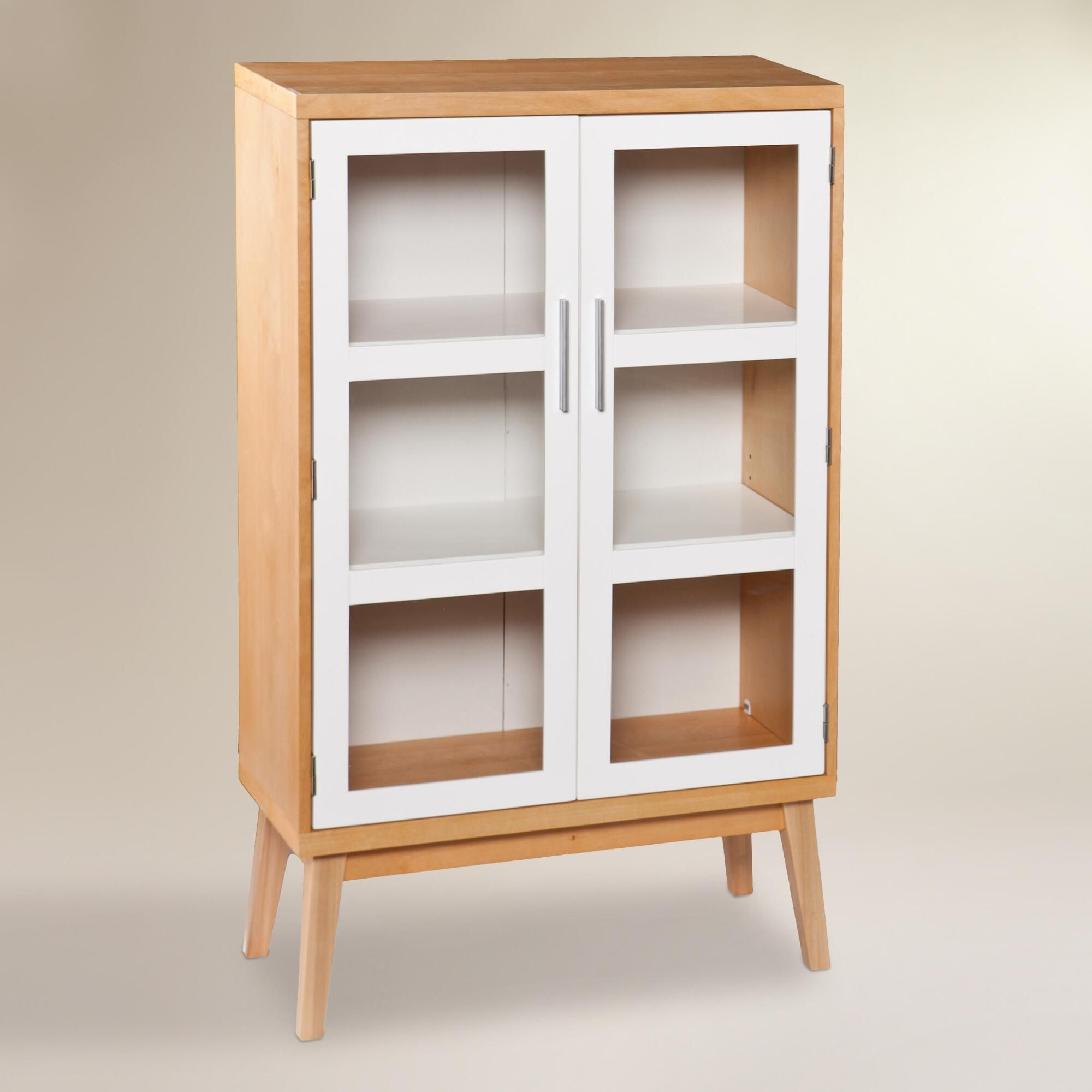 Our two-door cabinet boasts a style that evokes Scandinavian design ...