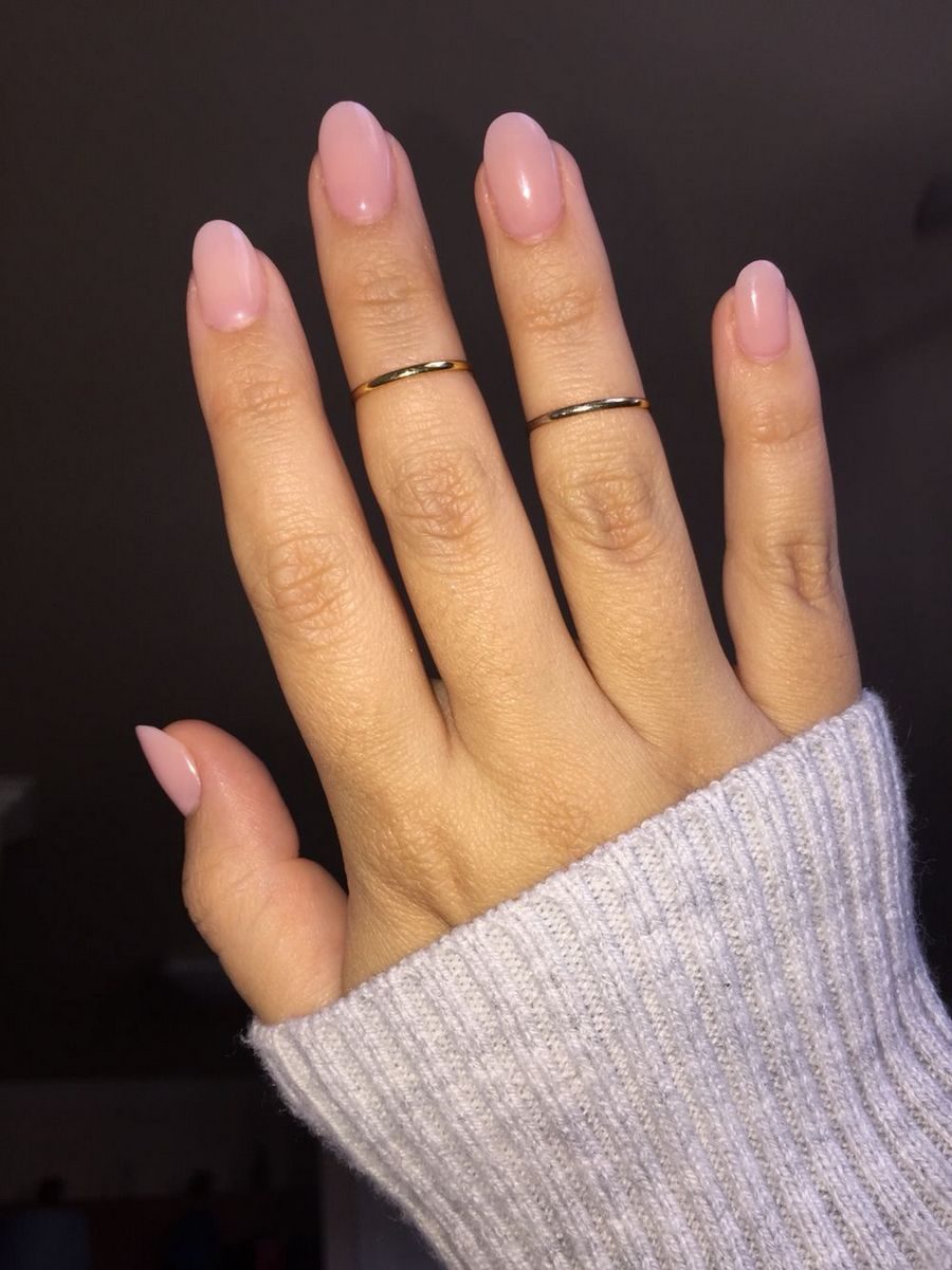 Natural Almond Acrylic Nails Much Like Your Hair Your Nails Begin To Learn That There S A Routi Rounded Acrylic Nails Oval Acrylic Nails Short Acrylic Nails