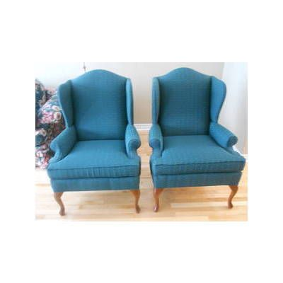 Pair Of Beautiful Queen Anne Wing Chairs For Sale Oshawa