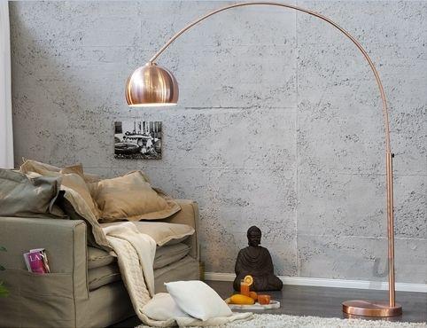 booglamp koper vloerlampen verlichting 210 hoog