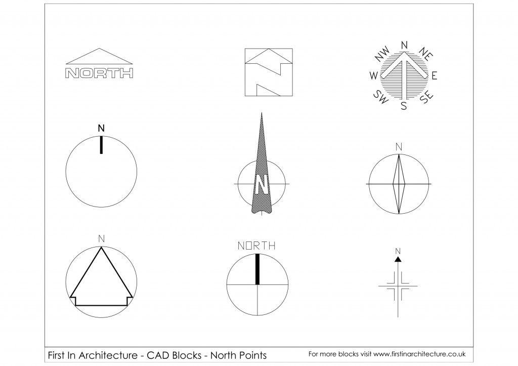FIA North Point free CAD Blocks 01