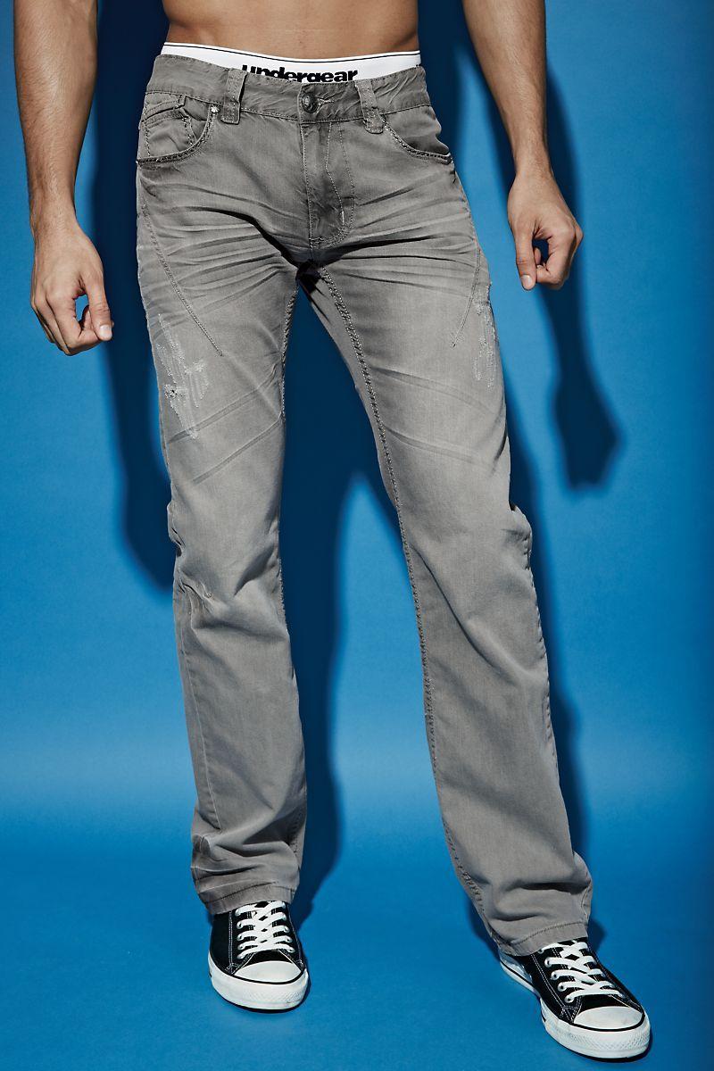 SMASH® STONEWELL JEAN Men's jeans Grey cotton denim for ...